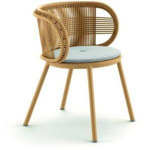 Dedon - Cirql Armchair mit Sitzkissen - ginger - outdoor