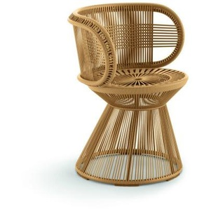 Dedon - Cirql Armchair, Standfuß - ginger - outdoor