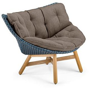 Dedon - Mbrace Lounge Chair - blau - inkl. Polsterauflage Cool - taupe452 - outdoor