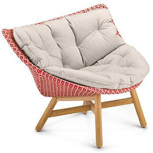 Dedon - Mbrace Lounge Chair - rot - inkl. Polsterauflage Cool - dark gray454 - outdoor
