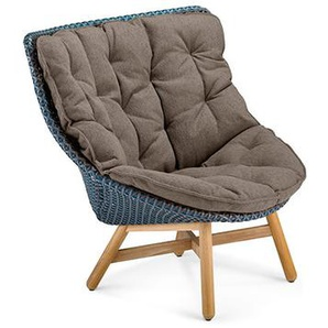 Dedon - Mbrace Wing Chair Hochlehner - blau - inkl. Polsterauflage Cool - taupe452 - outdoor