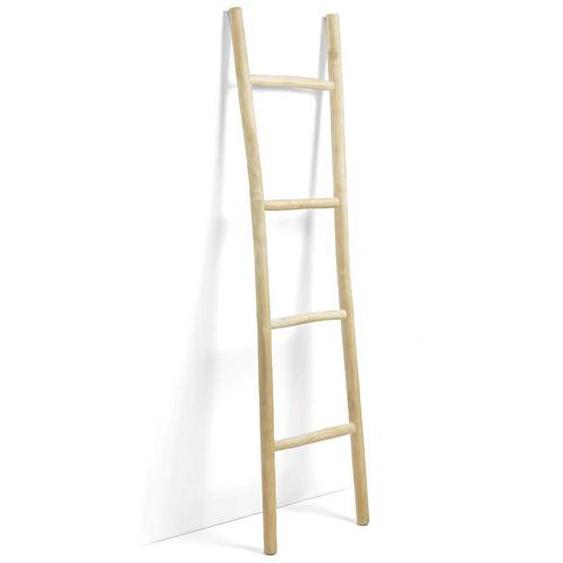 Deko Leiterregal aus Teak Massivholz 190 cm hoch