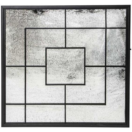 Deko Wandbild aus Spiegelglas und Metall 90 cm breit