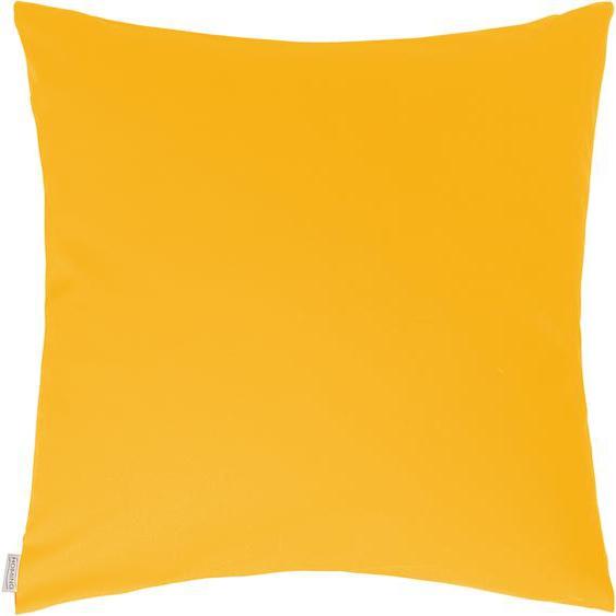 Dekokissen, Jonas, HOMING 1x 40x40 cm, Baumwolle gelb Dekokissen uni Kissen Kopfkissen