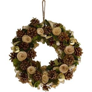 Dekokranz, mit Naturmaterialien gestaltet, Ø 34 cm braun Dekokranz Kunstkränze Kunstpflanzen Wohnaccessoires