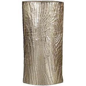 Dekovase , Gold , Metall , Holz , 15x31x7 cm , zum Stellen , Dekoration, Vasen
