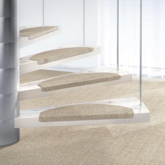 Dekowe Stufenmatte Mara S2, halbrund, 5 mm Höhe, 100% Sisal, große Farbauswahl, auch als Set mit 15 Stück erhältlich B/L: 25 cm x 65 cm, St. grau Stufenmatten Teppiche