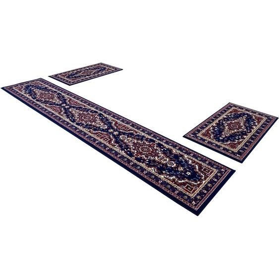 DELAVITA Bettumrandung Oriental, Orient-Optik B/L (Brücke): 60 cm x 110 (2 St.) (Läufer): 320 (1 St.), rechteckig blau Bettumrandungen Läufer Teppiche