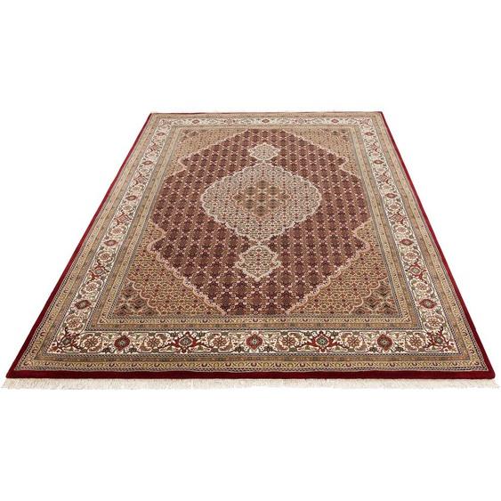 DELAVITA Orientteppich Irrfan, rechteckig, 12 mm Höhe, handgeknüpft, mit Fransen, Wohnzimmer B/L: 70 cm x 140 cm, 1 St. rot Schlafzimmerteppiche Teppiche nach Räumen