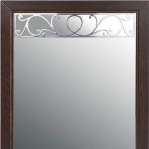 DELAVITA Spiegel »Oscar«, aus Eiche massiv, mit dekorative Frässungen, Breite 70 cm