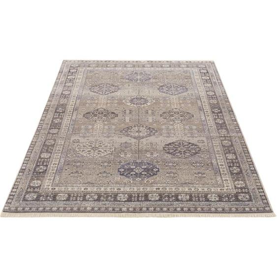 DELAVITA Teppich Aluna, rechteckig, 6 mm Höhe, Orient-Optik, Wohnzimmer B/L: 280 cm x 380 cm, 1 St. grau Esszimmerteppiche Teppiche nach Räumen