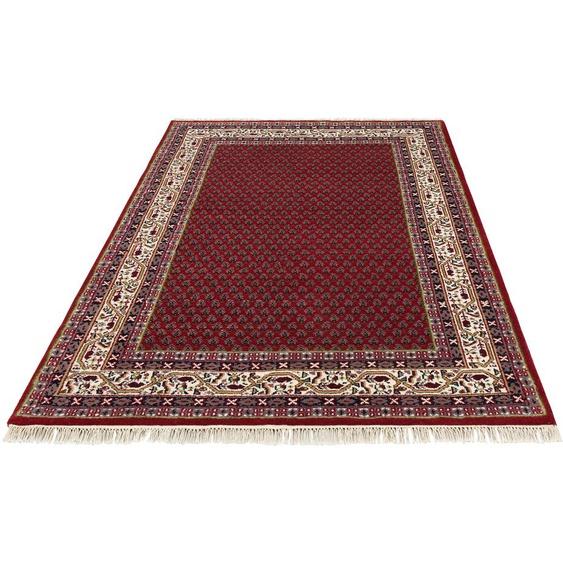 DELAVITA Wollteppich Javid Mir, rechteckig, 16 mm Höhe, reine Wolle, Wohnzimmer B/L: 120 cm x 180 cm, 1 St. rot Schlafzimmerteppiche Teppiche nach Räumen