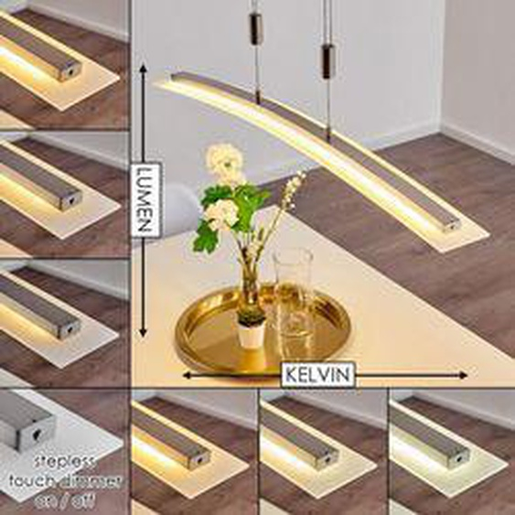 Delaware Pendelleuchte LED Silber, 1-flammig - Modern - Innenbereich - versandfertig innerhalb von 2-4 Werktagen