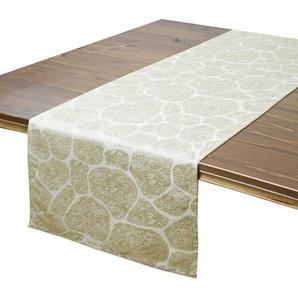 Delindo Lifestyle Tischläufer »STONE«, Jacquard, Fleckschutz, 180 g/m²