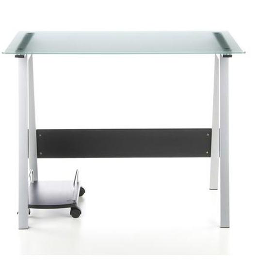 DELPHI | 100x70 - Schreibtisch Silber