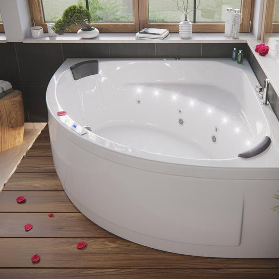 Deluxe Whirlpool TITAN ULTRA mit LED-Beleuchtung (L/B/H) 155/155/69 5 cm