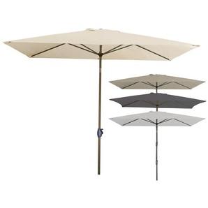 derby Kurbelschirm, 250 x 255 x 200 cm, regenabweisend, höhenverstellbar, 50+ UV-Schutz