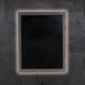 Design Badspiegel mit Glasrahmen LED Beleuchtung