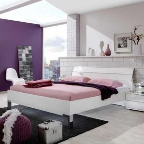 Design Bett in Wei� Made in Germany