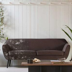 Design Couch aus Birke Massivholz Samt