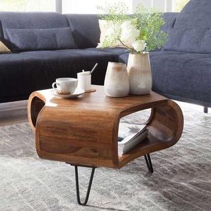 Design Couchtisch aus Sheesham Massivholz 60 cm breit