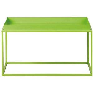 Design Couchtisch in Grün Metall