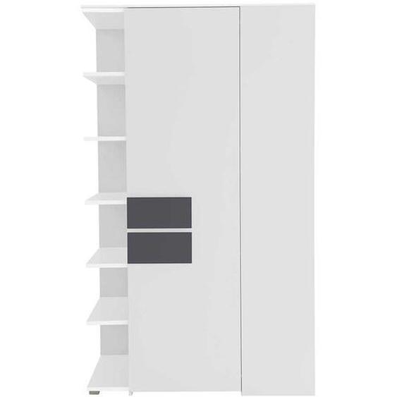 Design Eckschrank in Weiß Anthrazit Regal