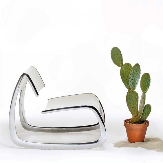 Design Einzelsessel aus Aluminium modern