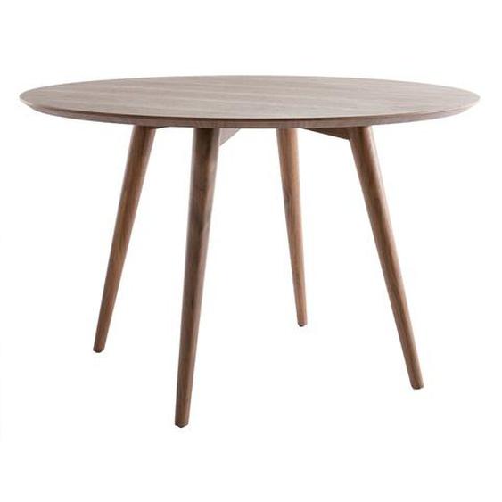 Design-Esstisch rund Nussbaum D120 LIVIA
