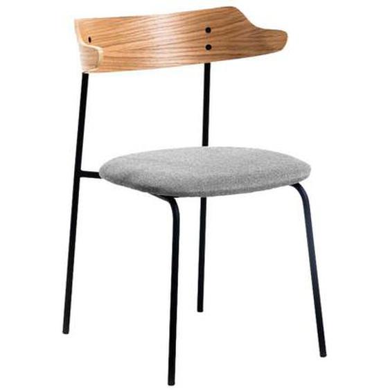 Design Esstisch Stühle in Eichefarben und Schwarz Skandi Style (2er Set)