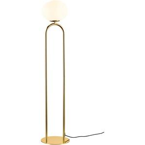 design for the people Stehlampe SHAPES, E27, Designer Leuchte Einheitsgröße goldfarben Standleuchten Stehleuchten Lampen Leuchten
