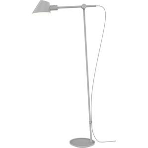 design for the people Stehlampe STAY, E27, Gelenkarm flexibel verstellbar 1 flg., Ø 15 cm Höhe: 135 grau Stehleuchten SOFORT LIEFERBARE Lampen Leuchten