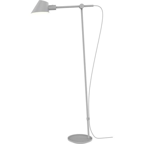design for the people Stehlampe STAY, E27, Gelenkarm flexibel verstellbar 1 flg., Ø 15 cm Höhe: 135 grau Standleuchten Stehleuchten Lampen Leuchten