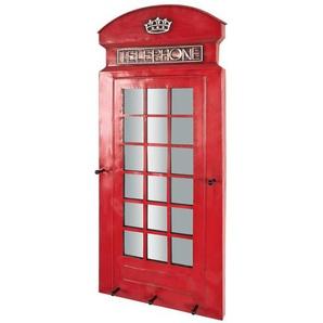 Design Garderobe als Telefonzelle Rot