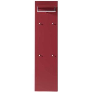 Design Garderobe in Rot 40 cm breit
