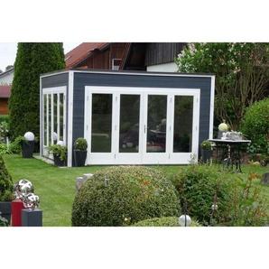 Carlsson - Design Gartenhaus aus Holz Cubus-Wave ISO , mit Imprägnierung , Tauch-Schutz-Imprägnierung: Mit Imprägnierung (Pinie)|Wandstärke:44 mm Wandstärke