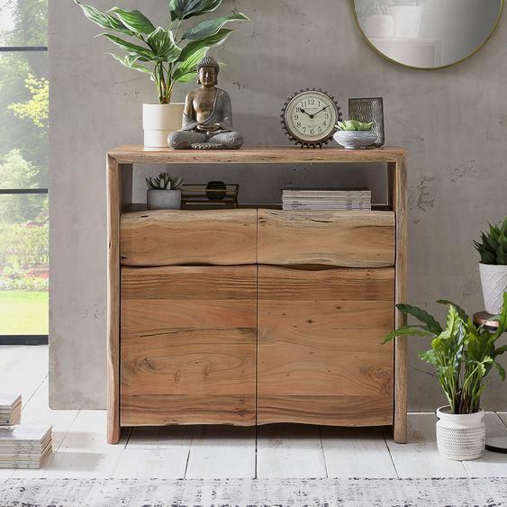 Design Holzkommode mit Baumkante Akazie Massivholz