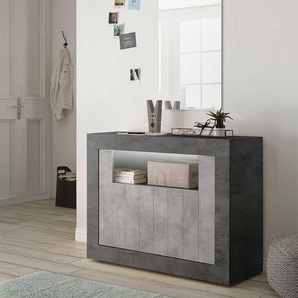 Design Kommode in Beton Grau Dunkelgrau