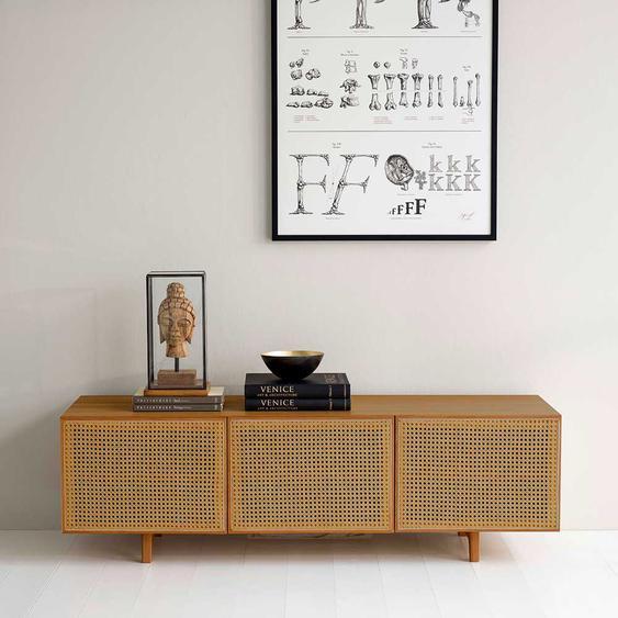 Design Lowboard aus Peddigrohr Geflecht 150 cm breit