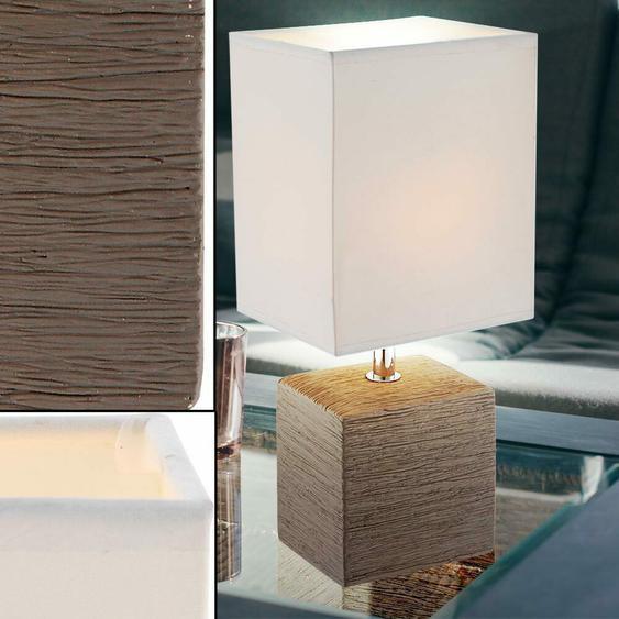 Design Nacht Tisch Lese Lampe Stoff Keramik Arbeitszimmer Leuchte