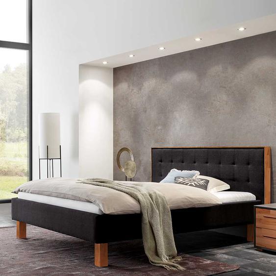 Design Polsterbett in Anthrazit Webstoff 160x200 cm