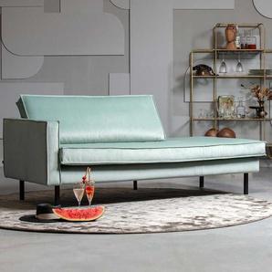 Design Recamiere in Mintgrün Armlehne links