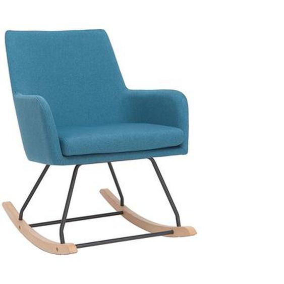 Design-Schaukelstuhl Stoff Blaugrün SHANA
