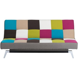 Design-Schlafsofa bunt - Webstoff Bianca ¦ mehrfarbig ¦ Maße (cm): B: 186 H: 85 T: 91 Polstermöbel  Sofas  2-Sitzer » Höffner