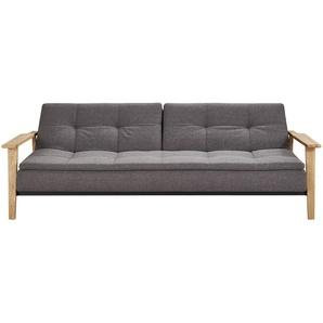 Design-Schlafsofa dunkelgrau - Webstoff Stratos ¦ grau ¦ Maße (cm): B: 232 H: 79 T: 115 Polstermöbel  Sofas  Einzelsofas » Höffner