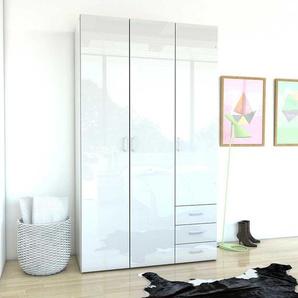 Design Schlafzimmerschrank in Hochglanz Wei� modern