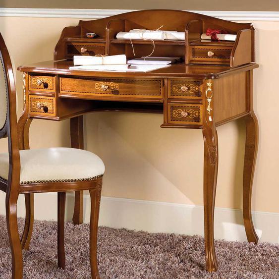 Design Schreibtisch mit Aufsatz Barock Design