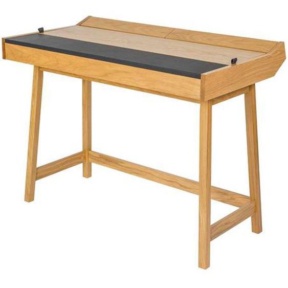 Design Schreibtisch mit Stauraum Eiche furniert