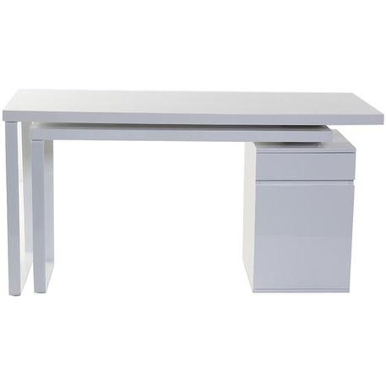 Design-Schreibtisch verstellbar Weiß glänzend VOXY