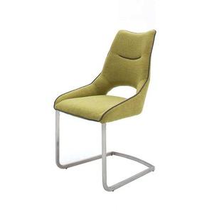 Design Schwingstuhl in Grün modern (2er Set)